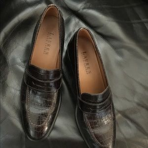 Lauren Ralph Lauren Brown Loafer Style Heel